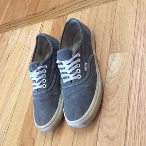 Grey Vans Authentic size 8 mens 9.5 womens